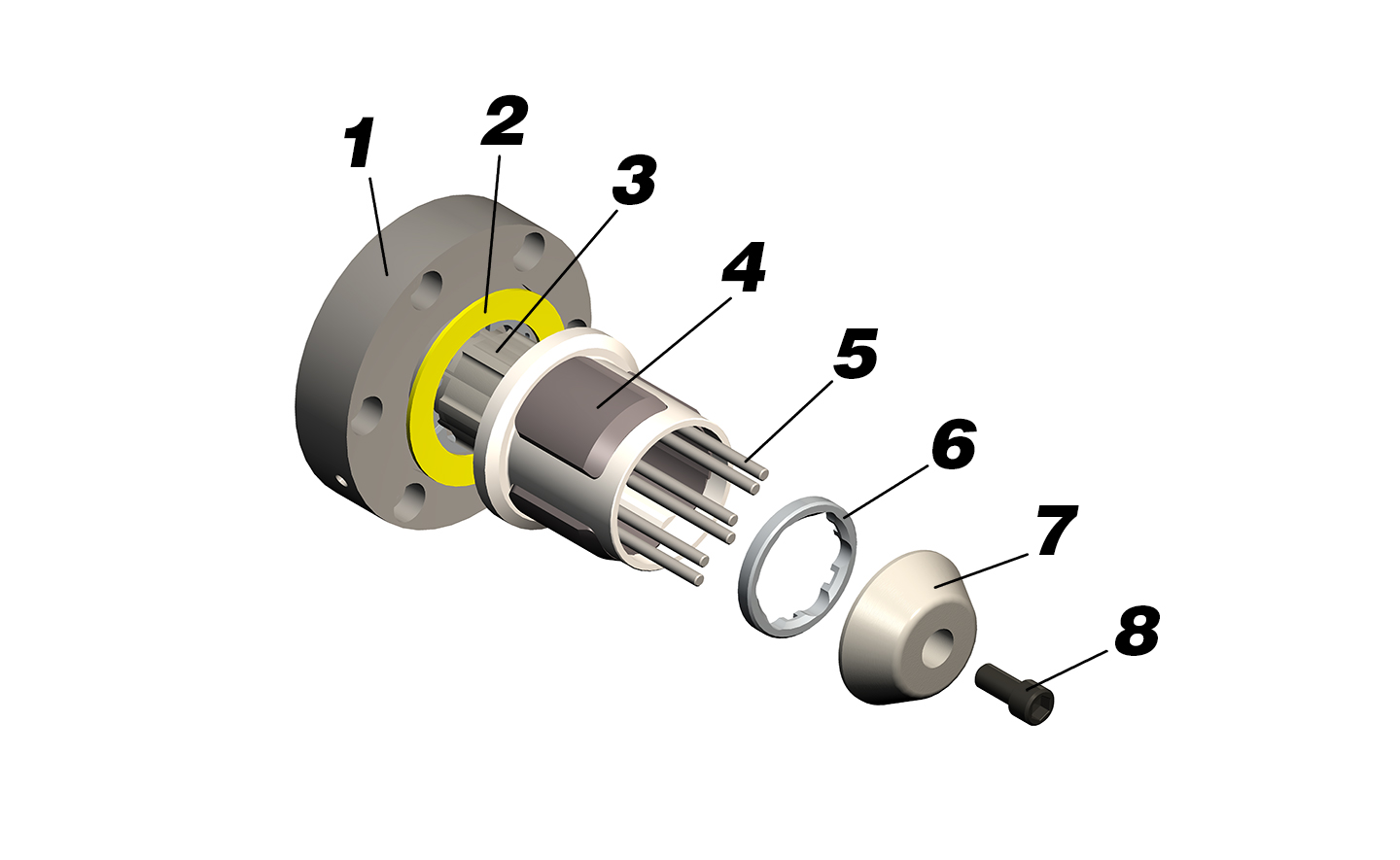 Double E DF-2000 torque activated core chuck components.