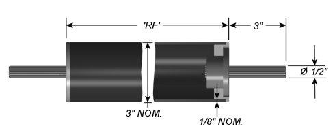 """Carbon Fiber Composite Idler Rollers - Dead Shaft - 3"""" OD"""