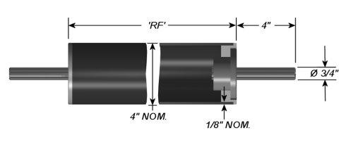 Epoch Idler Roller - Carbon Fiber Composite - Dead Shaft - 4
