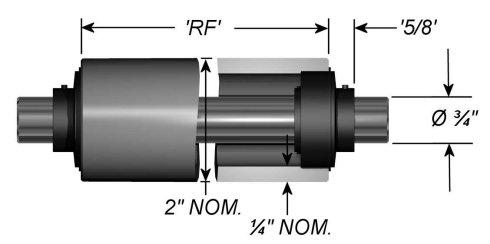 "Standard Aluminum Idler Rollers - Dead Shaft - 2.0"" OD"