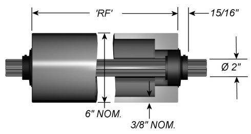 "Stainless Steel Idler Rollers - Dead Shaft - 6"" OD"