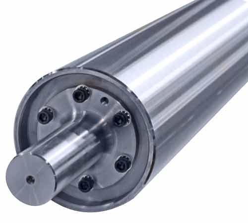 Standard Aluminum Idler Rollers - Live Shaft