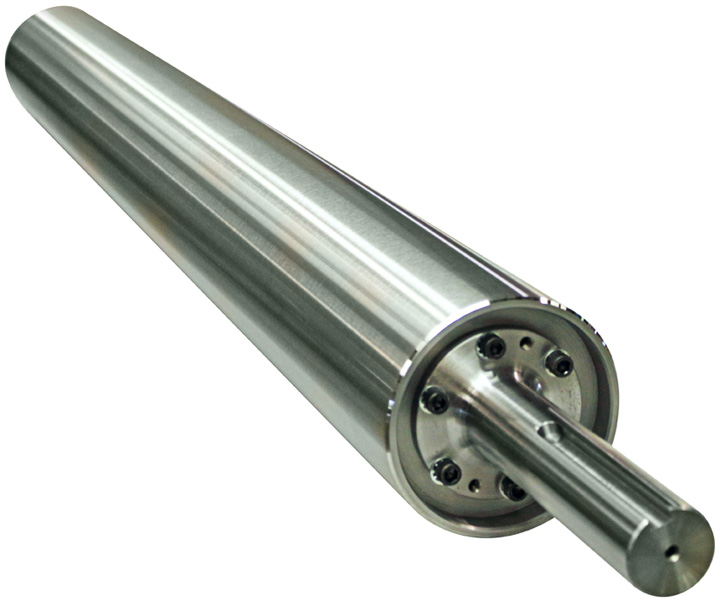 Stainless Steel Idler Rollers - Live Shaft