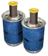 Double E Company CP-2000 lightweight core plugs for the tissue industry.